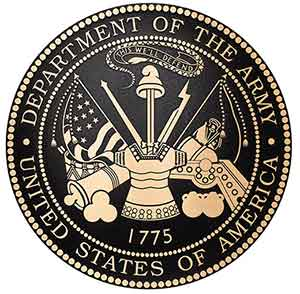 flat relief bronze military seal, military bronze plaque army