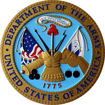 3d color military seal, military plaque in color