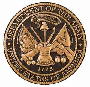 3d bronze military seal